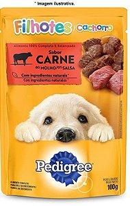 Ração Úmida Pedigree Sachê Carne ao Molho para Cães Filhotes 100gr