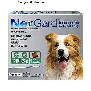 Antipulgas e Carrapatos NexGard 68mg para Cães de 10 à 25Kg