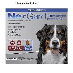 Antipulgas e Carrapatos NexGard 136mg para Cães de 25.1 à 50Kg - combo