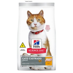 Ração Hill's Feline Castrado Frango 6kg