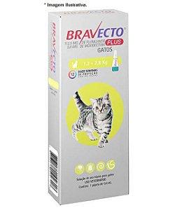 Antipulgas MSD Bravecto Plus Transdermal para Gatos de 1,2 á 2,8kg