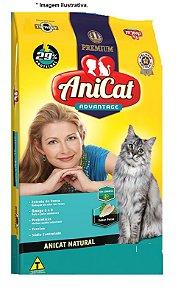 Ração para Gatos Premium AniCat Advantage Natural Sabor Peixe 10,1kg