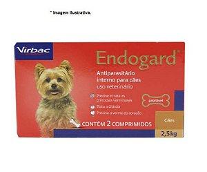 Vermífugo Virbac Endogard para Cães até 2,5kg 2 comprimidos