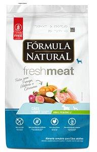 Ração Fórmula Natural Fresh Meat Cães Adulto Light Portes Mini e Pequeno 7kg