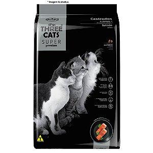 Ração Hercosul Three Cats Especial Super Premium Sabor Salmão para Gatos Castrados 15kg