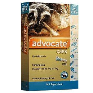 Antipulgas Bayer Advocate para Cães de 4 a 10 Kg 1,0ML 1 bisnaga