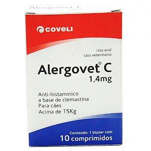 Antialérgico Coveli Alergovet C 1,4 mg 10 comprimidos