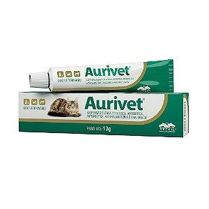 Aurivet Vetnil 13 g Suspensão Oleosa Otológica Cães e Gatos