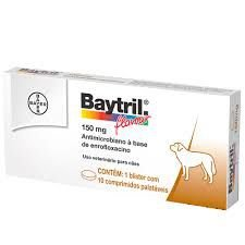 Baytril Flavour 150 mg 10 comprimidos Antimicrobiano