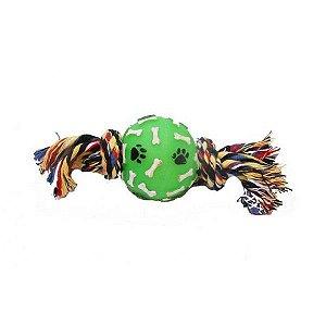 Brinquedo Bola Osso Pata com corda Médio
