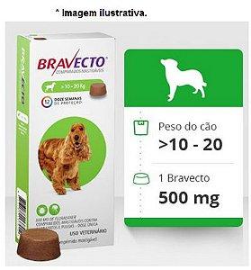 Antipulgas e Carrapatos Bravecto 500mg para cães de 10 a 20kg
