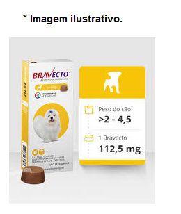 Antipulgas e Carrapatos Bravecto 112,5mg cães de 2 a 4,5kg