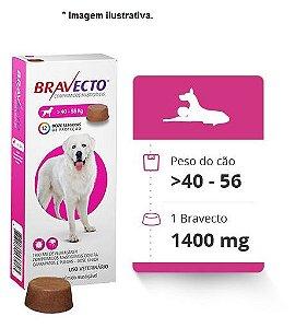Antipulgas e Carrapatos Bravecto para Cães de 40 a 56kg - 1400mg