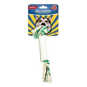 Brinquedo para Cães Cordosso Médio - Osso c/ corda
