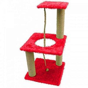 Brinquedo Arranhador para gatos Playground 3 andares - bombeiro