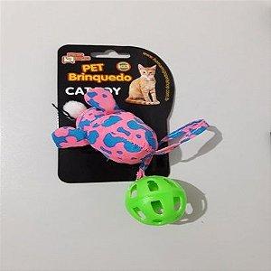 Brinquedo para gatos Ratinho rabo com bolinha