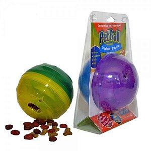 Brinquedo PetBall mini 8cm (comedouro+brinquedo)