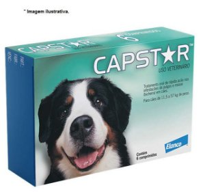 Antipulgas Capstar 57,0mg Cães Novartis + 11kg 6 comprimidos