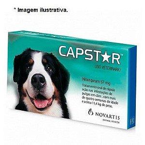 Antipulgas Capstar 57,0mg Cães Novartis + 11kg 1 comprimido