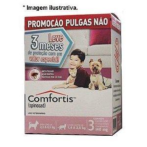 Antipulgas Comfortis 140 mg para Cães de 2,3 a 4,5 Kg e Gatos de 1,9 a 2,7 Kg 3 unidades
