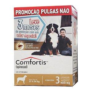 Antipulgas Elanco Comfortis 1620 mg para Cães de 27 a 54 Kg 3 unidade(Combo)