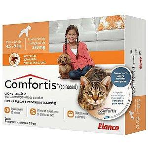 Antipulgas Comfortis 270 mg para Cães de 4,5 a 9 Kg e Gatos de 2,8 a 5,4 Kg 1 unidade