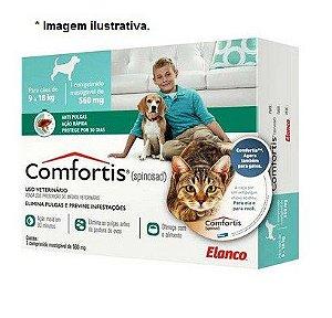 Antipulgas Comfortis 560 mg para Cães de 9 a 18kg e Gatos de 5,5 a 11kg 1 unidade