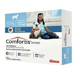 Antipulgas Elanco Comfortis 810 mg para Cães de 18 a 27 Kg 1 unidade