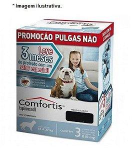 Antipulgas Elanco Comfortis 810 mg para Cães de 18 a 27 Kg 3 unidade(Combo)