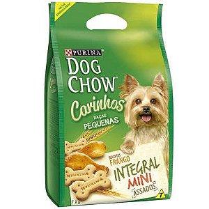 Petisco Dog Chow Carinhos Integral Mini Frango cães Adultos Raças Pequenas 1kg