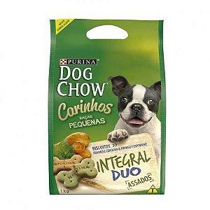 Petisco Dog Chow Carinhos Integral Mini Frango cães Adultos Duo Raças Pequenas 1kg