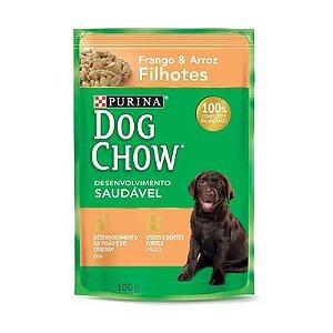 Ração Úmida Sachê Dog Chow Frango e Arroz Filhotes 100gr
