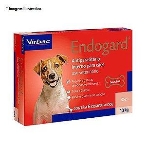 Vermífugo Virbac Endogard para Cães até 10 Kg - 6 comprimidos