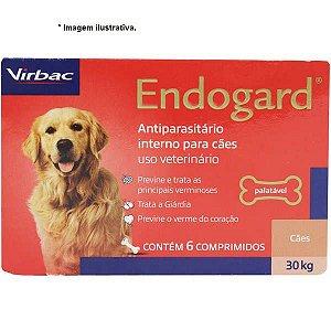 Vermífugo Virbac Endogard para Cães até 30kg - 6 comprimidos