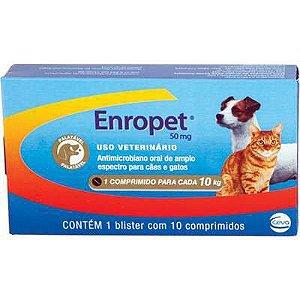 Antibiótico Ceva Enropet 50mg - 10 Comprimidos