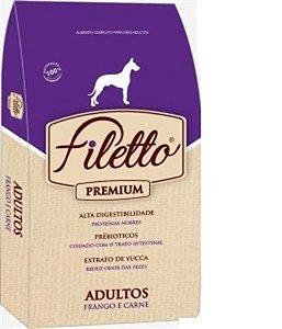 Ração Filetto para Cães Adulto Frango e Carne 25kg