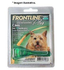 Antipulgas e Carrapatos Frontline Plus para Cães de até 10Kg 1 Unidade