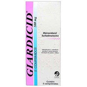 Antibiótico Giardicid 500 mg 5 comprimidos