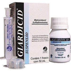 Antibiótico Giardicid Suspensão - 50 ML