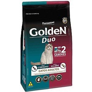 Ração Golden Duo Gatos Adultos  Salmão e Cordeiro 3kg