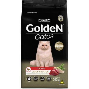 Ração Golden Gatos Adultos Carne 10,1kg