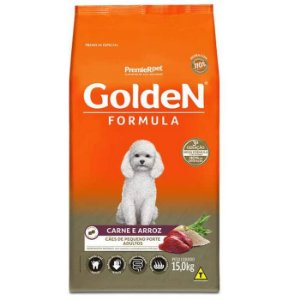 Ração Golden Formula Carne e Arroz para Cães Adultos de Raças Pequenas 15kg