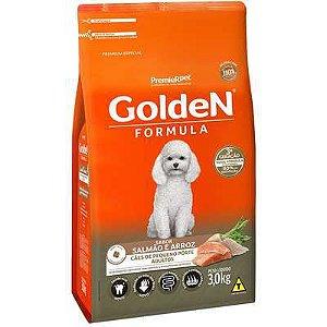 Ração Golden Mini Bits Salmão e Arroz para Cães Adultos de Raças Pequenas 3kg