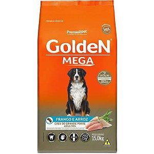 Ração Golden Mega Cães Adultos Raças Grandes Frango e Arroz 15kg