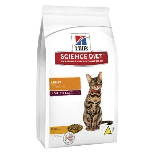 Ração Hill's Science Diet Light para Gatos Adultos 7,5kg