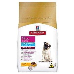 Ração Hill's Science Diet Canino Adulto Pele Sensível Pedaços Pequenos 7,5kg