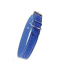 Coleira De Couro Color Nº 1 - Azul/lisa