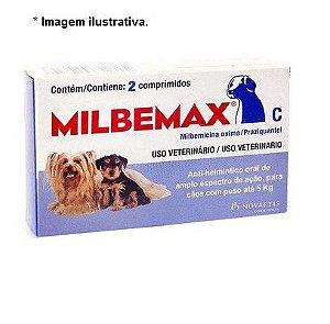 Vermífugo Milbemax C para Cães até 5 Kg - 2 Comprimidos - VENCIMENTO OUT/21
