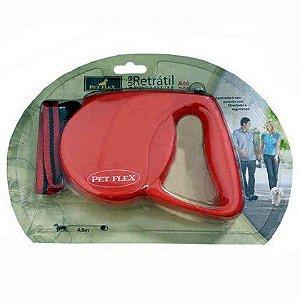 Guia Retrátil Pet Flex Premium Vermelha 4m                   *Imagem Meramente Ilustrativa*