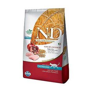 Ração Farmina N&D Low Grain Frango para Gatos Castrados 1,5kg